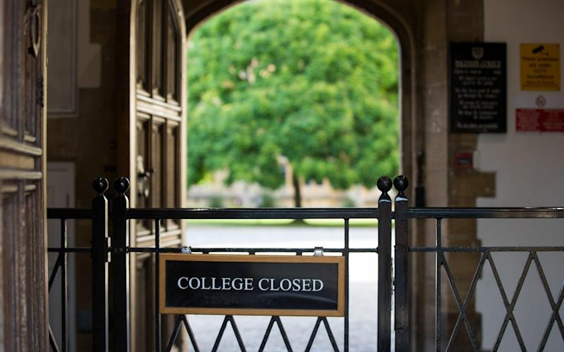 Magdalen College in Oxford. 23 per cent of prospective students said they would consider not taking up a place at university this autumn - BLOOMBERG
