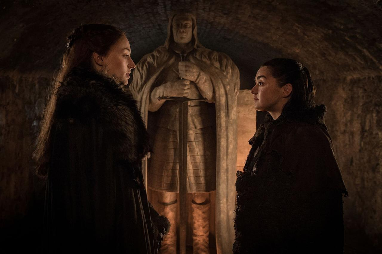 <p><strong>Status: CONFIRMED</strong></p><p>In the second episode of the Season 8, we heard Sam, Gilly, and Jon repeat the same thing: The crypts are the safest place for those who will not be fighting the dead. However, by definition, a crypt is where the dead are housed. And a certain undead someone has the power to resurrect the dearly departed. </p><p>To make matters worse, at the end of episode two, when the army of wights, led by the White Walkers (there's a hierarchy and it puts the Night King at the very top), pauses to stare at Winterfell in the distance, the Night King (and Viserion) are noticeably absent. </p><p>This leads us to believe that maybe he's already at Winterfell. If so, is he preparing to reanimate the bodies of Starks long (and more recently) passed?</p>