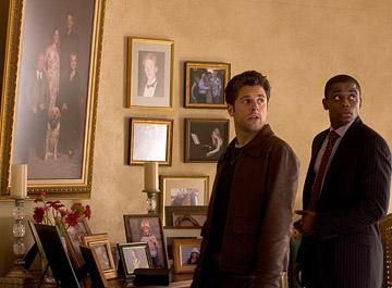 """James Roday and Dule Hill in """"Psych."""""""