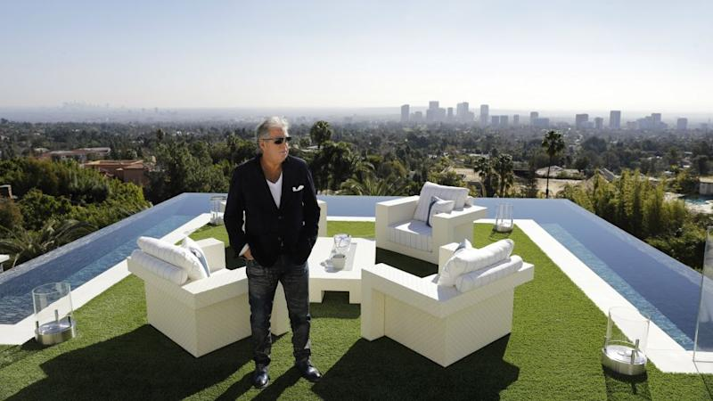 A billionaire on his roof.