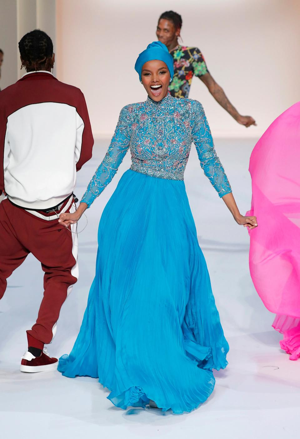 <p>Halima Aden</p>Getty Images for Sherri Hill