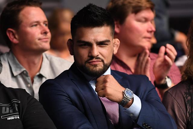 Kelvin Gastelum poses for a photo during the UFC 234 at Rod Laver Arena on Feb. 10, 2019 in the Melbourne, Australia. (Getty Images)