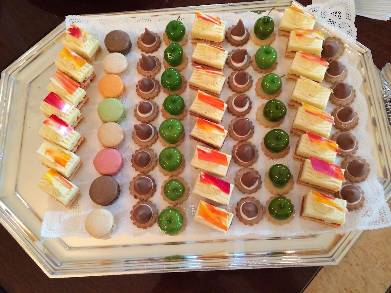A selection of desserts that Yosses made for thestate dinner in honor of then-President Francois Hollande in February 2014.