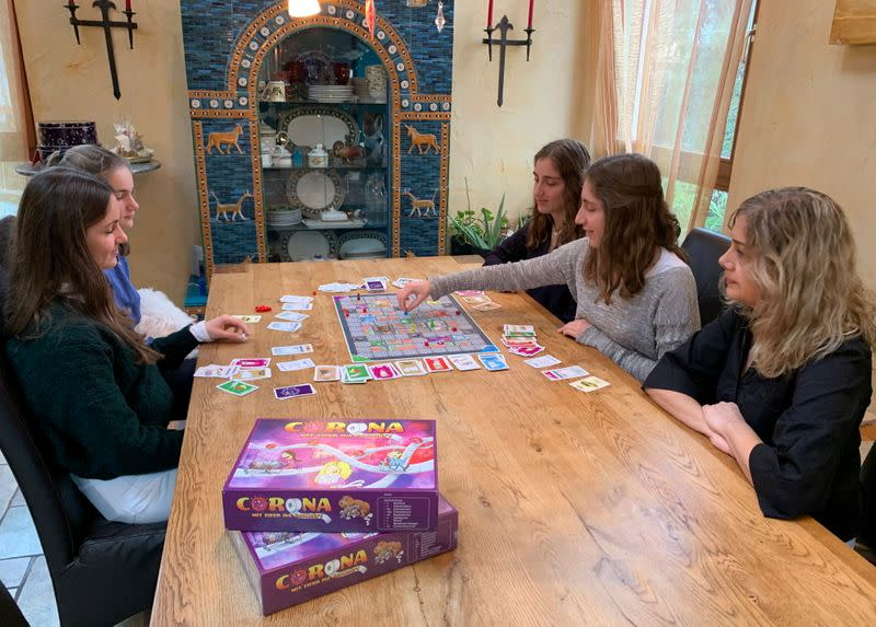 Sisters invent corona-virus board-game to play in Christmas shutdown