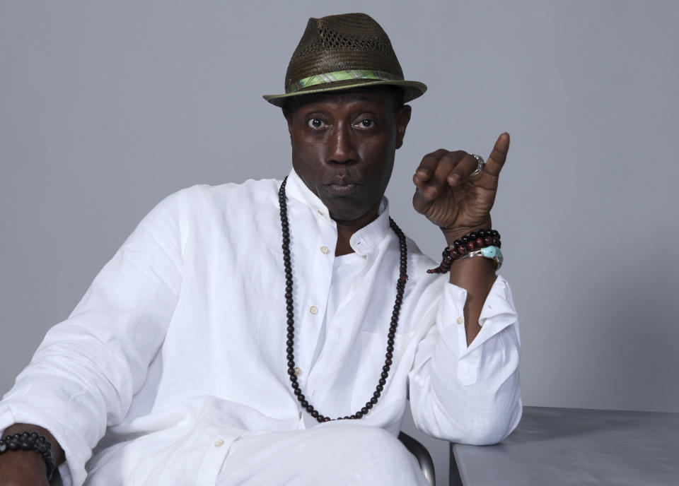 """Wesley Snipes poses for a portrait to promote the film """"Cut Throat City"""" on day three of Comic-Con International on Saturday, July 21, 2018, in San Diego. (Photo by Rebecca Cabage/Invision/AP)"""