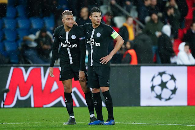From Thiago Silva (right) to Kylian Mbappe, PSG has never lacked for big names. It has lacked Champions League success. (Getty)
