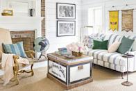 "<p>When you move into a new home, there's always that moment when you stare at your blank walls, wondering how you'll fill them and give them personality. And as fun as it is to track down wall art from retail stores, we'll suggest another way to dress up your living room or <a href=""https://www.countryliving.com/home-design/decorating-ideas/g28557737/bedroom-wall-decor-ideas/"" rel=""nofollow noopener"" target=""_blank"" data-ylk=""slk:bedroom walls"" class=""link rapid-noclick-resp"">bedroom walls</a>: DIY artwork you can create yourself. It might sound kind of intimidating, but we're here to tell you that lots of DIY paintings, embroidery pieces, and abstract artwork isn't as hard to make as you think and can create a striking <a href=""https://www.countryliving.com/home-design/decorating-ideas/g29460882/accent-wall-ideas/"" rel=""nofollow noopener"" target=""_blank"" data-ylk=""slk:accent wall"" class=""link rapid-noclick-resp"">accent wall</a> in your home. Actually, many of the projects we're sharing here from some of our favorite DIY bloggers around can be made in a weekend, an afternoon, or even an hour! Handmade ideas are also the perfect solution for adding interest to a <a href=""https://www.countryliving.com/home-design/decorating-ideas/g29338808/gallery-wall-ideas/"" rel=""nofollow noopener"" target=""_blank"" data-ylk=""slk:gallery wall"" class=""link rapid-noclick-resp"">gallery wall</a>.</p><p>Making DIY wall art can also be a lot easier on your wallet too. Instead of springing for that expensive piece you spied in a catalog, you can create an oh-so-similar version for a fraction of the price, and you'll have the satisfaction of knowing you made it yourself. So block off some quality alone time, gather up your friends, or ask your little ones to join in on the fun, because it's time to make some DIY wall art.</p>"