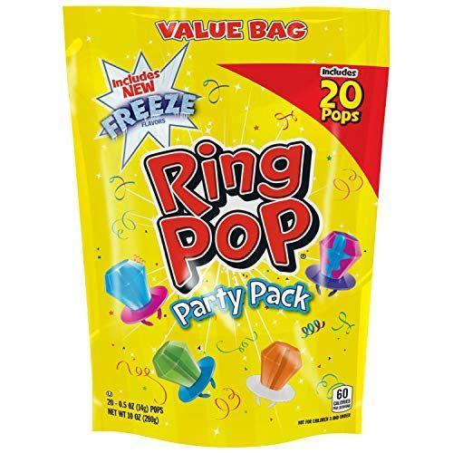 """<p><strong>Ring Pop</strong></p><p>amazon.com</p><p><strong>$7.99</strong></p><p><a href=""""https://www.amazon.com/dp/B06XGNL1RX?tag=syn-yahoo-20&ascsubtag=%5Bartid%7C2089.g.904%5Bsrc%7Cyahoo-us"""" rel=""""nofollow noopener"""" target=""""_blank"""" data-ylk=""""slk:Shop Now"""" class=""""link rapid-noclick-resp"""">Shop Now</a></p><p>If there were ever a more perfect day to enjoy a Ring Pop, it would be Valentine's Day. Show your sweetheart how much you care with these fruity lollipop rings.</p>"""