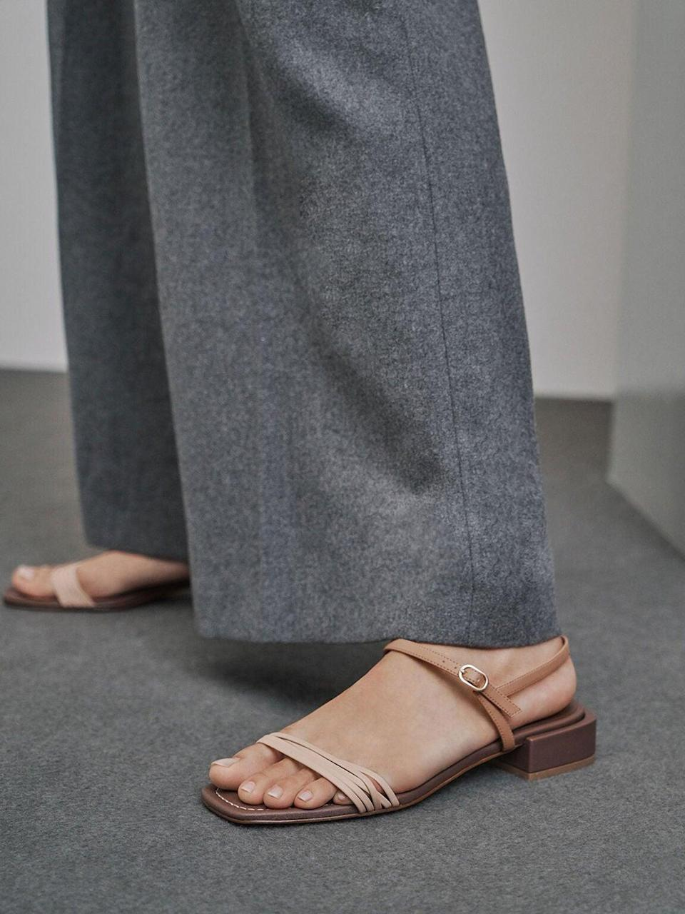 """<br><br><strong>Charles & Keith</strong> Open Square Toe Heeled Sandals, $, available at <a href=""""https://go.skimresources.com/?id=30283X879131&url=https%3A%2F%2Fwww.charleskeith.com%2Fus%2Fsale%2FCK1-70900243_DK.BRW.html"""" rel=""""nofollow noopener"""" target=""""_blank"""" data-ylk=""""slk:Charles & Keith"""" class=""""link rapid-noclick-resp"""">Charles & Keith</a>"""