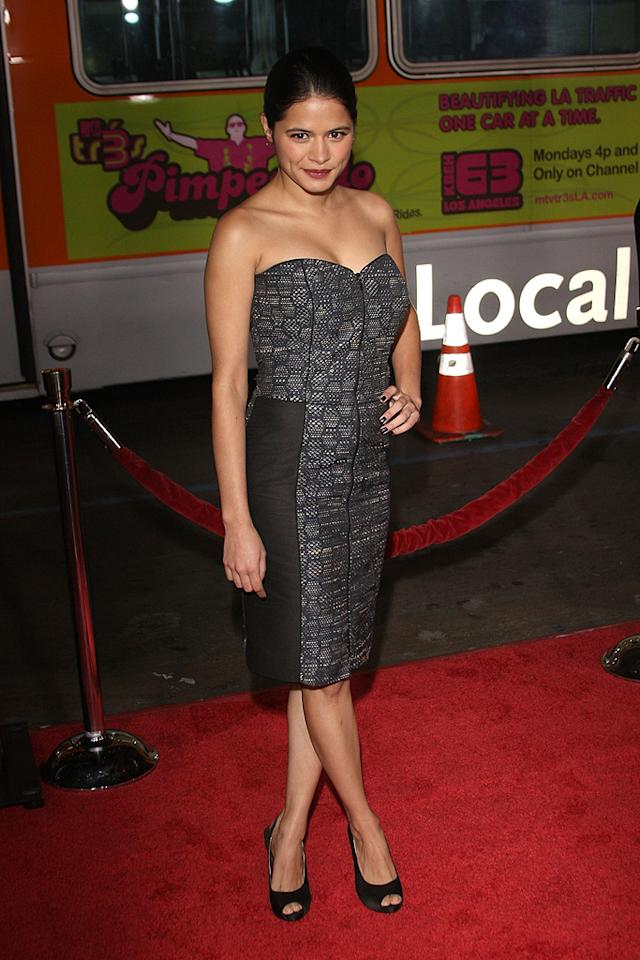 """<a href=""""http://movies.yahoo.com/movie/contributor/1808458946"""">Melonie Diaz</a> at the Los Angeles premiere of <a href=""""http://movies.yahoo.com/movie/1809991685/info"""">Nothing Like the Holidays</a> - 12/03/2008"""