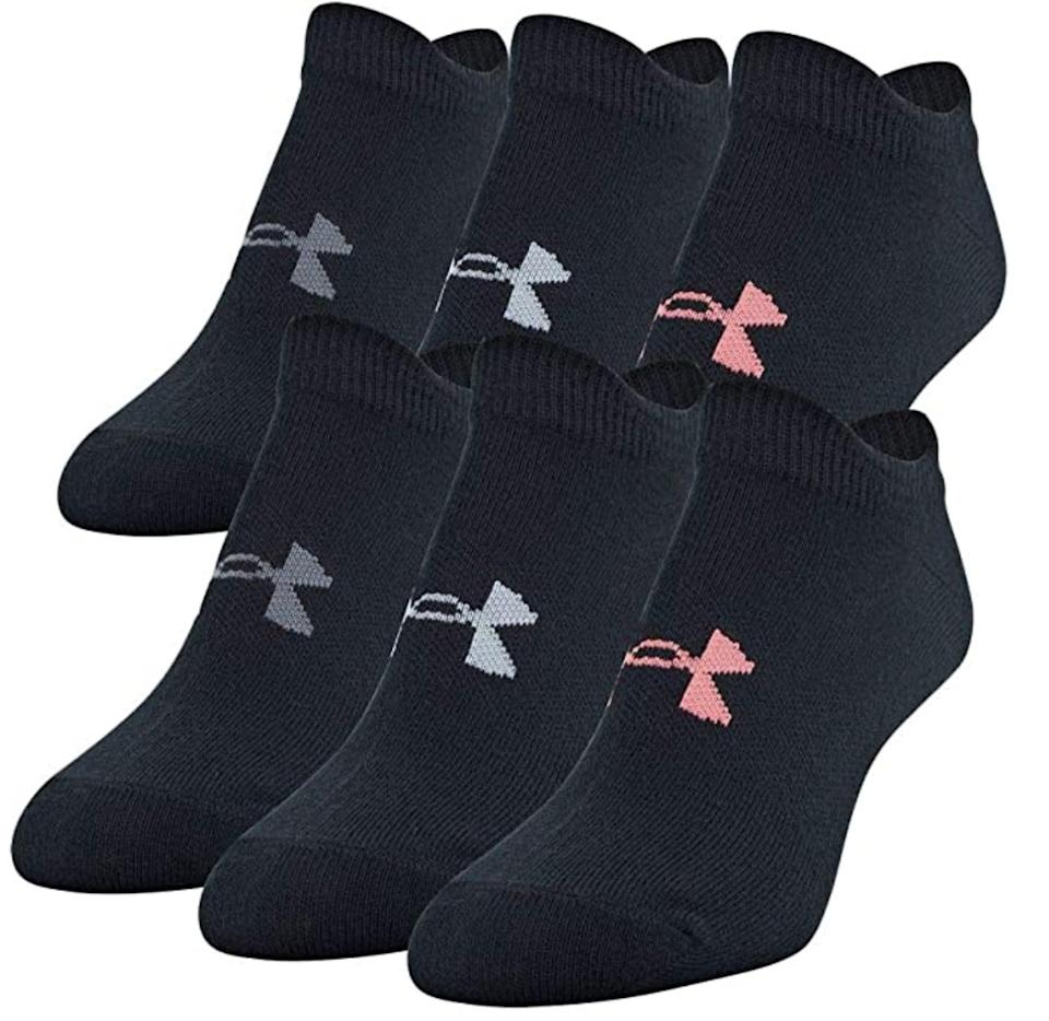 <p>These highly-rated <span>Under Armour Essential No Show Socks</span> ($19) are a practical basic to add to your sock drawer. There are tons of assorted colors to choose from available on Amazon.</p>