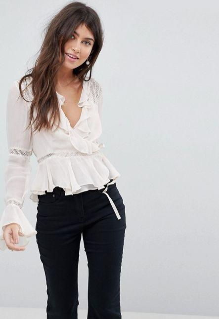 "Get it <a href=""http://us.asos.com/asos/asos-wrap-top-with-ruffle-and-lace-insert/prd/8669895?clr=cream&SearchQuery=wrap%20top&gridcolumn=1&gridrow=2&gridsize=4&pge=1&pgesize=72&totalstyles=426"" target=""_blank"">here</a>."