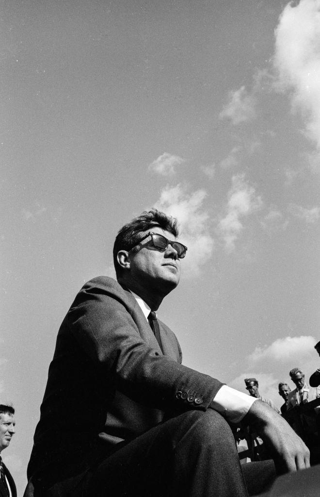 <p>President Kennedy visits the Homestead Air Force Base.</p>