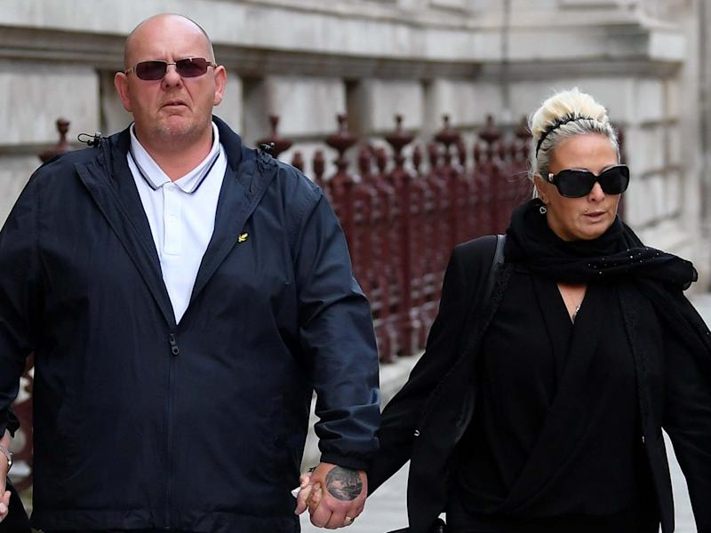 Tim Dunn and Charlotte Charles, parents of Harry Dunn, leave the Foreign and Commonwealth office in London: Reuters