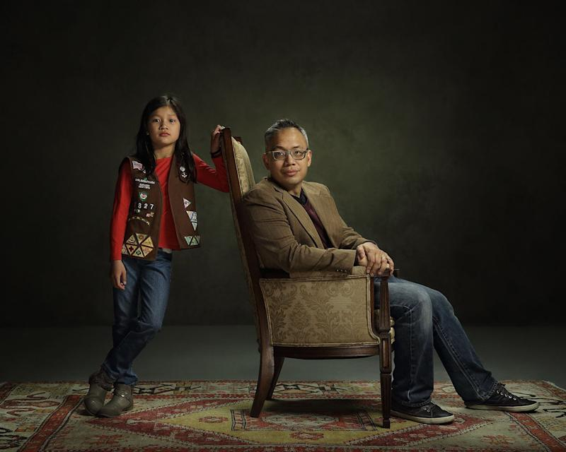 """Twenty-two men and their daughters participated in the """"Dear Daughters"""" project."""