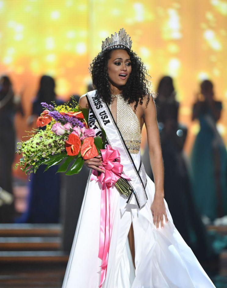 McCullough, newly crowned as Miss USA
