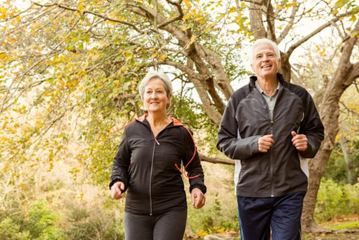 "<span class=""caption"">Being physically active can help seniors have better balance and reduce the risk of falls.</span> <span class=""attribution""><a class=""link rapid-noclick-resp"" href=""https://www.shutterstock.com/image-photo/senior-couple-park-on-autumns-day-330076757?src=zFw0QaBjaOBWgjyy284D3A-1-78"" rel=""nofollow noopener"" target=""_blank"" data-ylk=""slk:wavebreakmedia/Shutterstock.com"">wavebreakmedia/Shutterstock.com</a></span>"