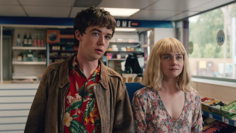 THE END OF THE F***ING WORLD, from left: Alex Lawther, Jessica Barden, (Season 1, aired in U.S. on Jan. 5, 2018). photo: Netflix / courtesy Everett Collection