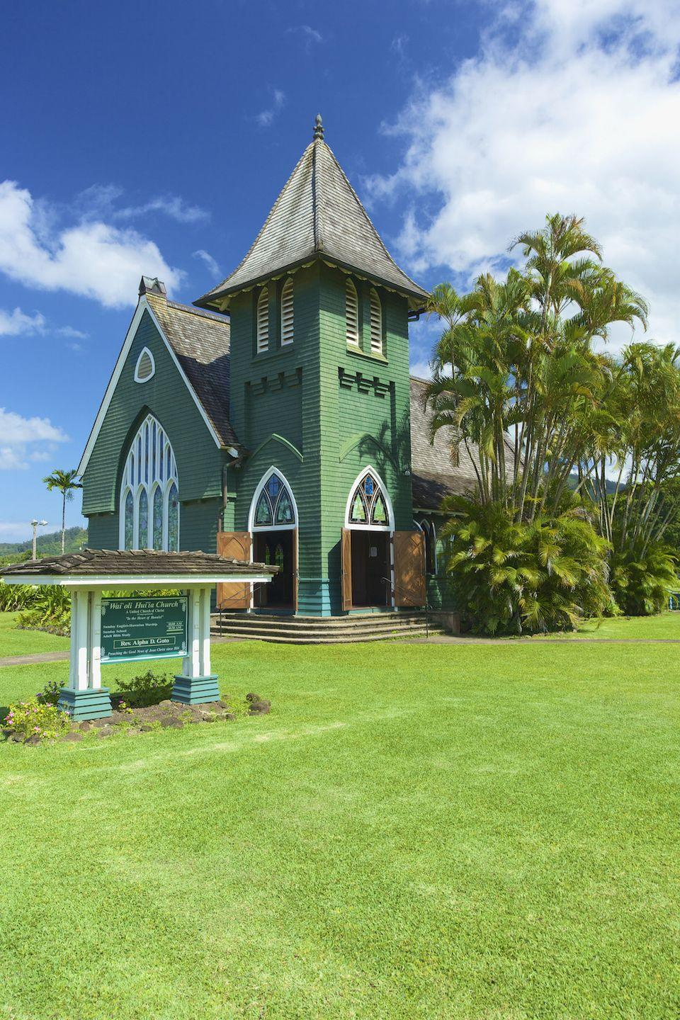 """<p>Hanalei is another town on our list that has a famous pop culture connection: Its bridge was featured in <a href=""""http://www.aloha-hawaii.com/kauai/destinations/north-shore/hanalei/"""" rel=""""nofollow noopener"""" target=""""_blank"""" data-ylk=""""slk:South Pacific"""" class=""""link rapid-noclick-resp""""><em>South Pacific</em></a>. The buildings and scenery are as gorgeous as you'd expect in Hawaii, too. It's also a town where you can fulfill your fantasy of opening a gallery, surf shop, or restaurant, with a steady stream of visitors looking to take in the picture-perfect landscape.</p><p><a href=""""https://www.housebeautiful.com/lifestyle/news/a8340/hgtv-casting-love-yurts/"""" rel=""""nofollow noopener"""" target=""""_blank"""" data-ylk=""""slk:Here's how you can live in a yurt in Hawaii »"""" class=""""link rapid-noclick-resp""""><em>Here's how you can live in a yurt in Hawaii »</em></a></p>"""