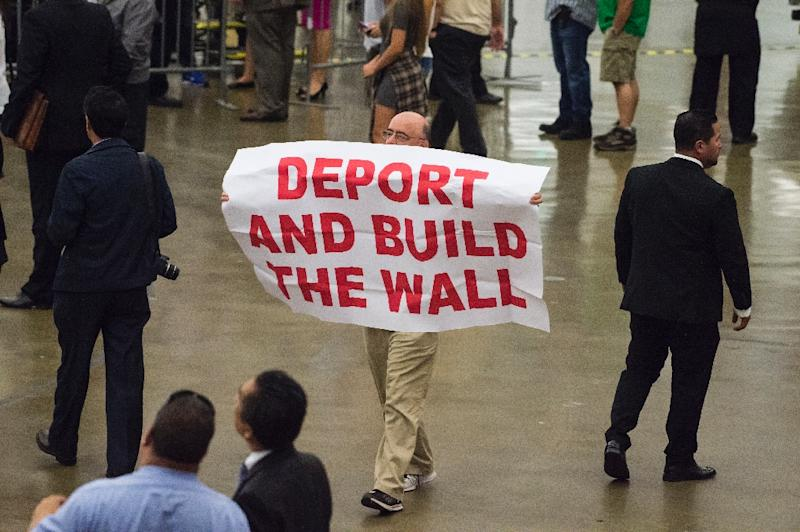Donald Trump's signature election campaign policy was to build a wall across the 2,000-mile border between the US and Mexico (AFP Photo/ROBYN BECK)