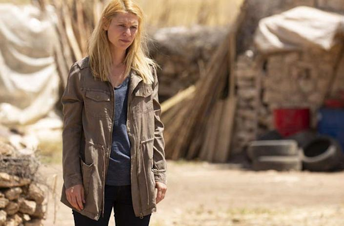 """<span class=""""caption"""">Actress Claire Danes playing CIA officer Carrie Mathison, who struggles with mental illness, on the set of 'Homeland.'</span> <span class=""""attribution""""><a class=""""link rapid-noclick-resp"""" href=""""https://www.spoilertv.com/2020/03/homeland-episode-808-threnodys-press.html"""" rel=""""nofollow noopener"""" target=""""_blank"""" data-ylk=""""slk:Showtime"""">Showtime</a></span>"""