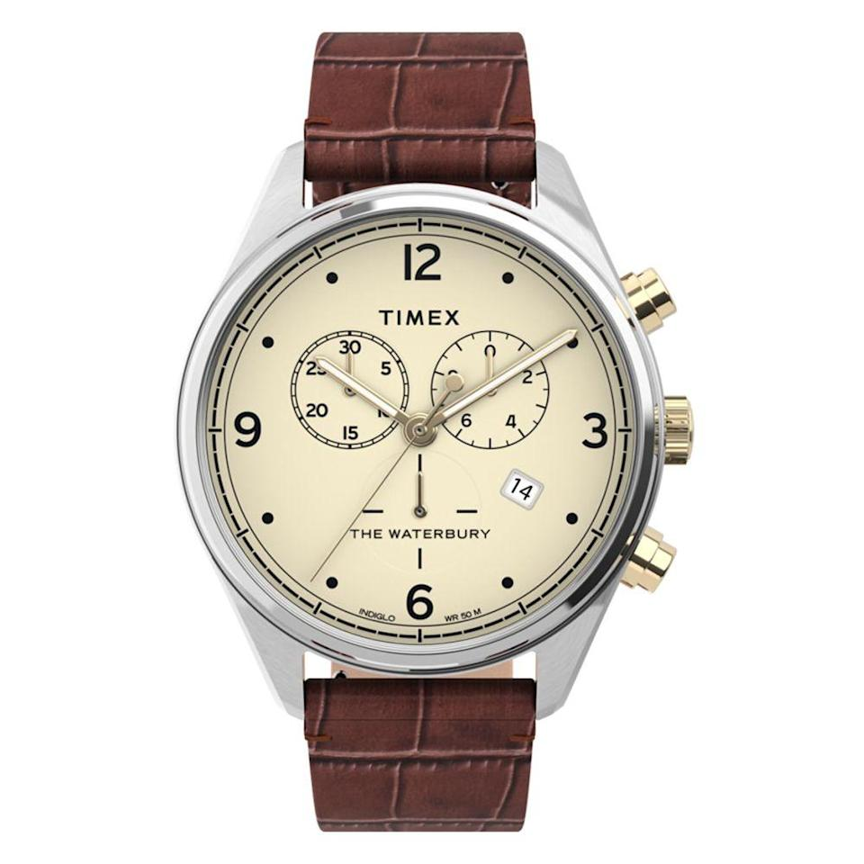 "<p><a class=""link rapid-noclick-resp"" href=""https://go.redirectingat.com?id=74968X1596630&url=https%3A%2F%2Fwww.timex.com%2Fwaterbury-traditional-chronograph-42mm-leather-croco-strap-watch%2FWaterbury-Traditional-Chronograph-42mm-Leather-Croco-Strap-Watch.html%3Fdwvar_Waterbury-Traditional-Chronograph-42mm-Leather-Croco-Strap-Watch_color%3DStainless-Steel-Brown-Cream%26cgid%3Dmen-dress%23start%3D73%26sz%3D36&sref=https%3A%2F%2Fwww.menshealth.com%2Fstyle%2Fg33807469%2Fbest-watch-brands-for-men%2F"" rel=""nofollow noopener"" target=""_blank"" data-ylk=""slk:BUY IT HERE"">BUY IT HERE</a></p><p>Timex is a brand that we all know—and with good reason. Their diverse offering of timepieces range from casual and high-tech to handsome chronographs, all without putting a dent in your wallet. In fact, most of them ring in at under $200. This Waterbury watch shows off their ability to modernize classic styles. The tonal colors, supple textures, and mixed metals feel fresh, without trying too hard. </p>"
