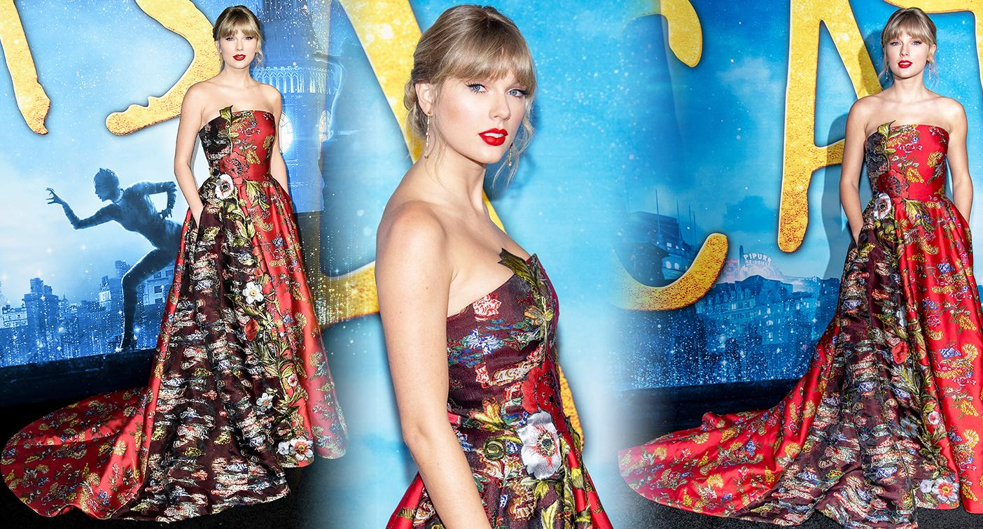 Taylor Swift pictured at last night's 'Cats' premiere. [Photo: Getty]