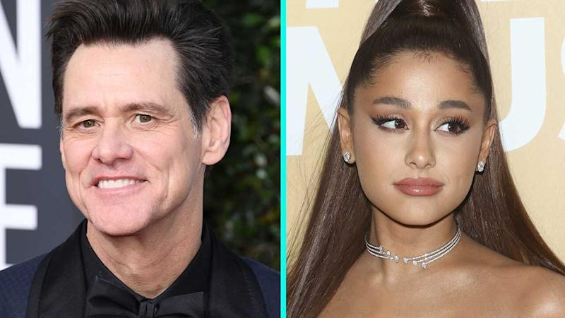 Ariana Grande Embraces Jim Carrey as She Films 'Kidding' Guest Appearance: 'There Aren't Words'