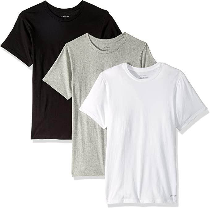 Calvin Klein Mens 3-Pack Cotton Classic Short Sleeve Undershirt. Image via Amazon.
