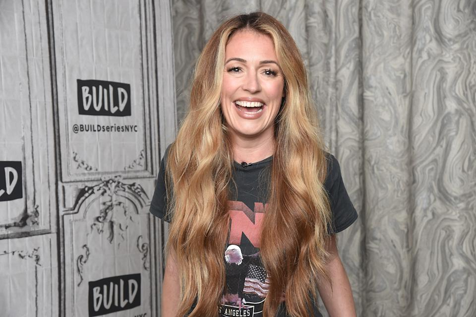 NEW YORK, NEW YORK - JUNE 18:  TV personality Cat Deeley visits the Build Brunch to discuss the 16th season of 'So You Think You Can Dance' at Build Studio on June 18, 2019 in New York City. (Photo by Gary Gershoff/Getty Images)