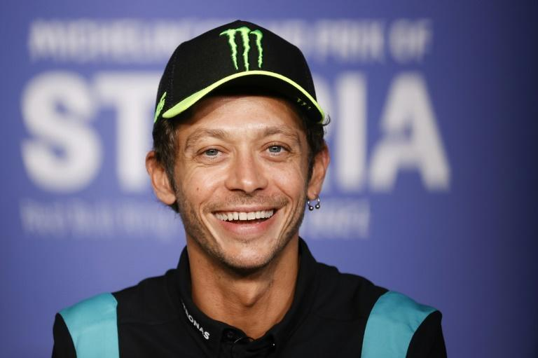 All over: Valentino Rossi addresses his retirement press conference on Thursday