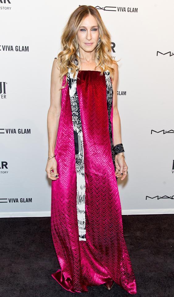 NEW YORK, NY - FEBRUARY 06:  Actress Sarah Jessica Parker attends amfAR New York Gala To Kick Off Fall 2013 Fashion Week at 499 Seventh Avenue on February 6, 2013 in New York City.  (Photo by Gilbert Carrasquillo/FilmMagic)