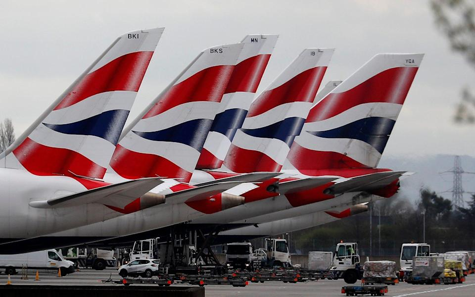Tailfins of British Airways aircraft - AP