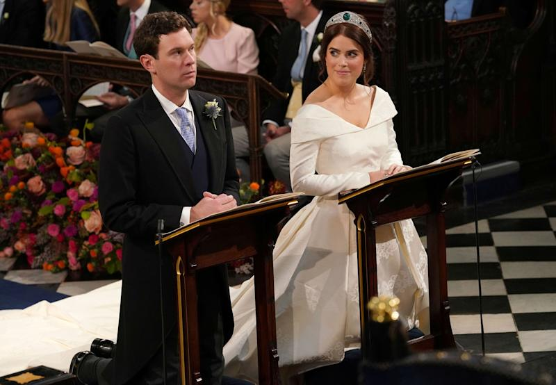 The wedding of Princess Eugenie to Jack Brooksbank at St George's Chapel in Windsor Castle, Windsor, Britain, October 12, 2018. Jonathan Brady/Pool via REUTERS