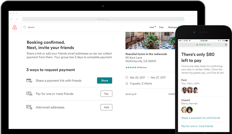 Airbnb now lets you split the bill