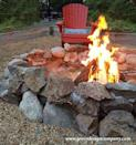 """<p>Bring back memories of summer camp with this homey fire pit that's far more durable than it looks, thanks to the concrete used to bind the rocks together.</p><p><strong>Get the tutorial at <a href=""""http://www.grecodesigncompany.com/diy/firepit-diy-2/"""" rel=""""nofollow noopener"""" target=""""_blank"""" data-ylk=""""slk:Greco Design Co"""" class=""""link rapid-noclick-resp"""">Greco Design Co</a>.</strong></p><p><a class=""""link rapid-noclick-resp"""" href=""""https://go.redirectingat.com?id=74968X1596630&url=https%3A%2F%2Fwww.homedepot.com%2Fp%2FPavestone-4-in-x-11-75-in-x-6-75-in-Buff-Concrete-Retaining-Wall-Block-81104%2F100169703&sref=https%3A%2F%2Fwww.countryliving.com%2Fdiy-crafts%2Fg31966151%2Foutdoor-fireplace-ideas%2F"""" rel=""""nofollow noopener"""" target=""""_blank"""" data-ylk=""""slk:SHOP TROWELS"""">SHOP TROWELS</a></p>"""