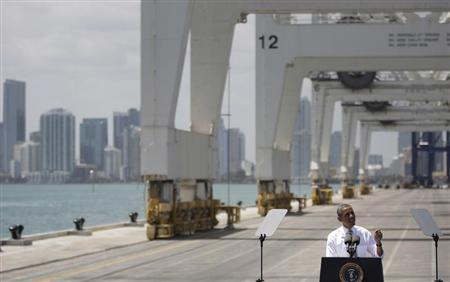 Obama delivers remarks on infrastructure investment at PortMiami