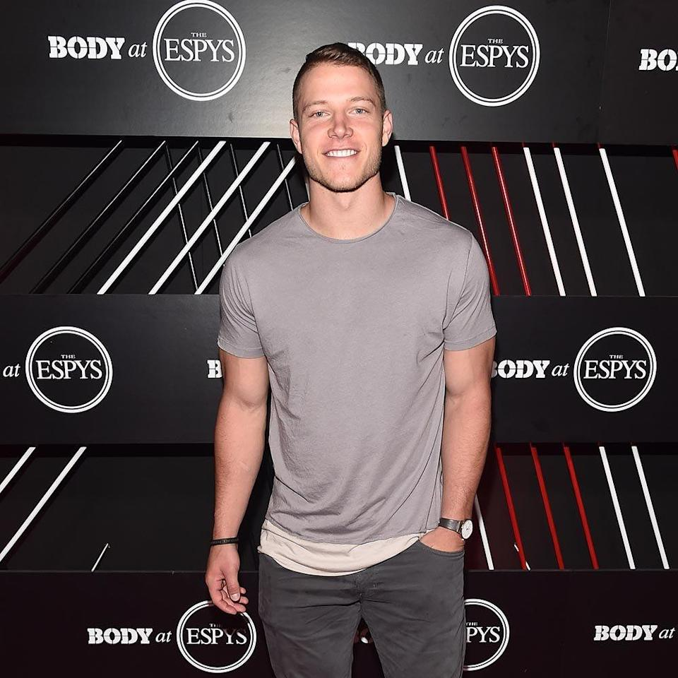<p><strong>Position</strong>: Running back<br><strong>Relationship status:</strong> Single<br><strong>What makes him so sexy</strong>: Good looks aren't the only thing that runs in the family. McCaffrey's father was an NFL player, his brother is a free agent, his two younger brothers are currently college football players, his uncle played college basketball, his grandfather was an Olympic track star, and his mother was a college soccer player. </p>