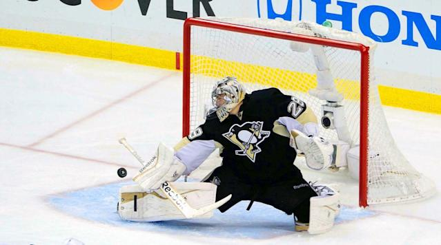<p>Though unnervingly erratic at times, Fleury proved his mettle during the Penguins' run to the 2009 Stanley Cup, especially during the thrilling seven-game final vs. Detroit. — Notable picks: No. 2: Eric Staal, C, Carolina Hurricanes | No. 5: Tomas Vanek, LW, Buffalo Sabres | No. 9: Dion Phaneuf, D, Calgary Flames | No. 11: Jeff Carter, C, Philadelphia Flyers | No. 17: Zach Parise, C, New Jersey Devils | No. 19: Ryan Getzlaf, C, Anaheim Ducks| No. 28: Corey Perry, RW, Anaheim Ducks | No. 49: Shea Weber, D, Nashville Predators | No. 205: Joe Pavelski, C, San Jose Sharks | No. 245: Dustin Byfuglien, D, Chicago Blackhawks</p>