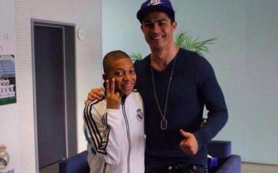 Kylian Mbappe with one Cristiano Ronaldo, five years ago