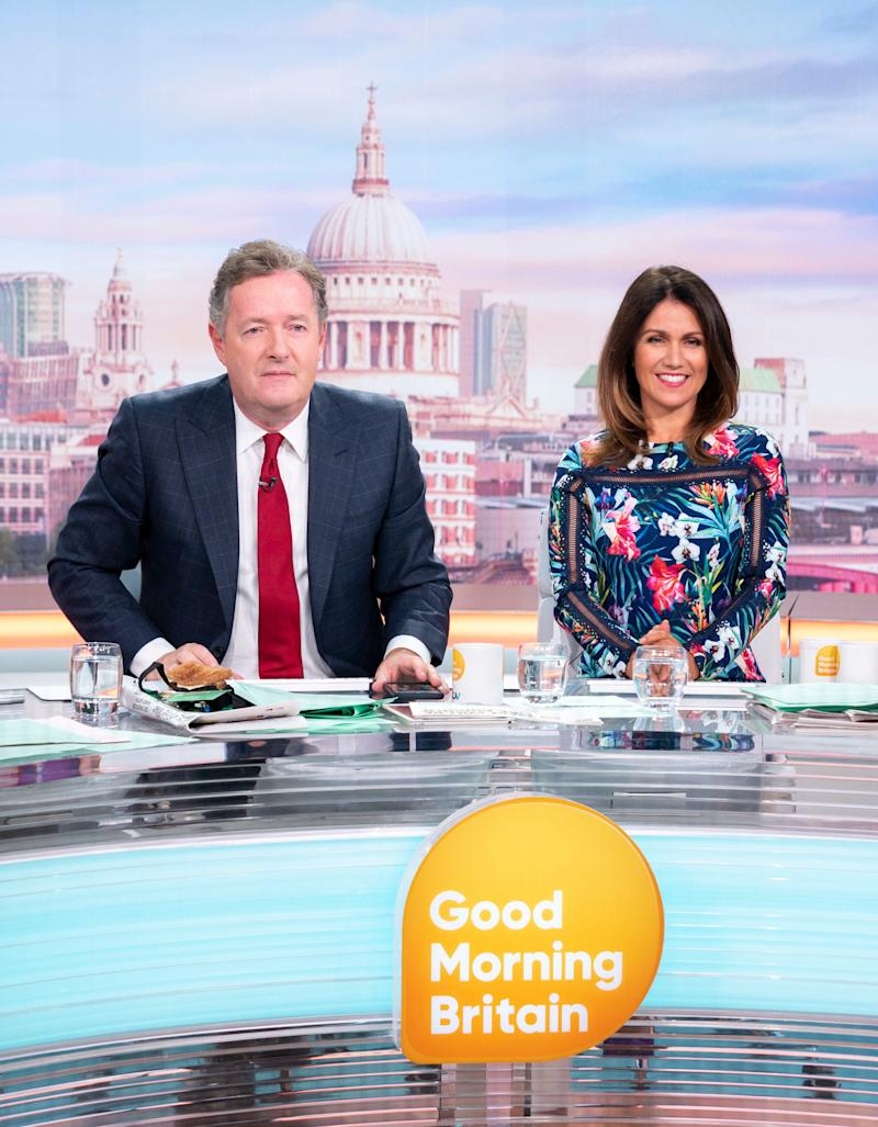 Piers Morgan with Susanna Reid on Good Morning Britain (Photo: Rex/Shutterstock/ITV)