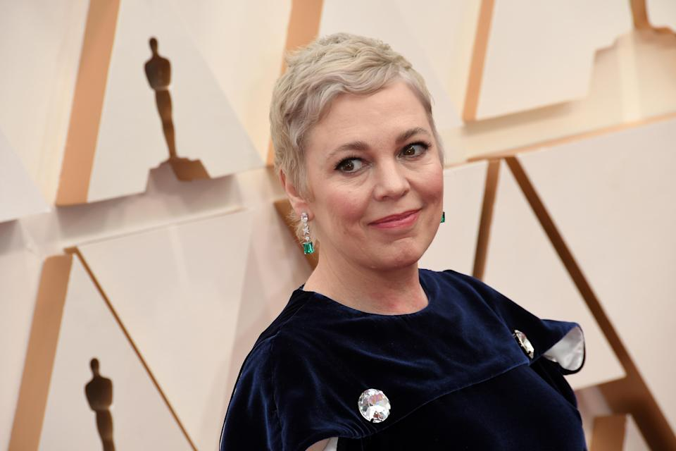 Olivia Colman walking on the red carpet at the 92nd Annual Academy Awards held at the Dolby Theatre in Hollywood, California on Feb. 9, 2020. (Photo by Sthanlee B. Mirador/Sipa USA)