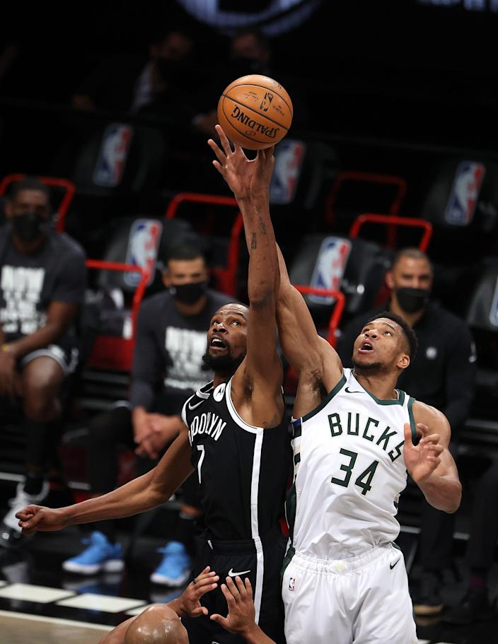 A healthy Kevin Durant could take the Nets on a long ride in the playoffs. But Giannis Antetokounmpo and the Bucks could be a big obstacle.