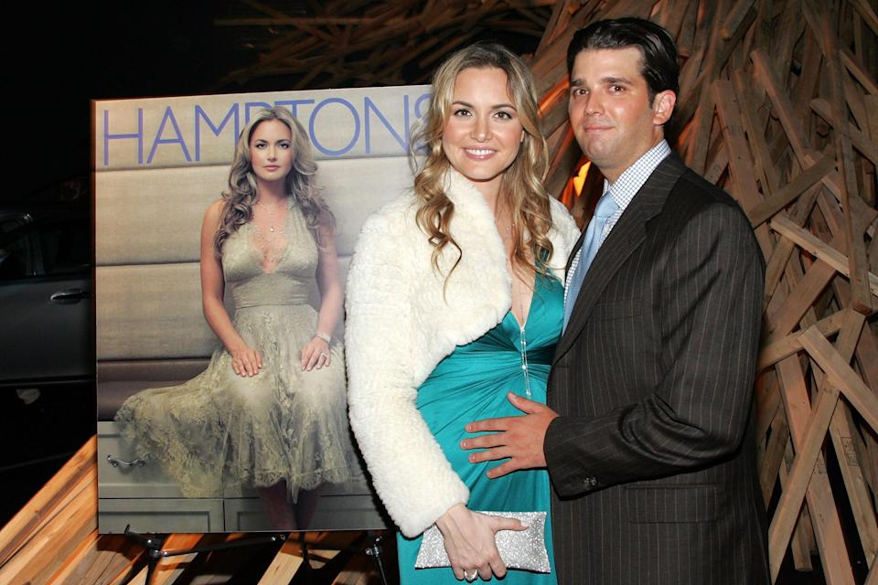Vanessa Trump and Donald Trump Jr. attend the launch party for the holiday issue of <i>Hamptons</i> Magazine on Nov. 15, 2006. She was on the magazine's cover. (Photo: Bryan Bedder/Getty Images)
