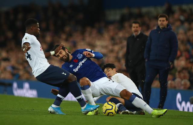 He clipped Gomes, whose momentum from the tackle took him into Aurier. (Photo by Robbie Jay Barratt - AMA/Getty Images)