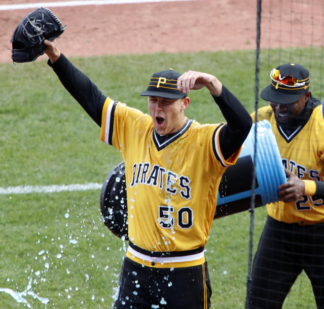 The Pirates have been celebrating a lot to start 2018. (AP Photo)