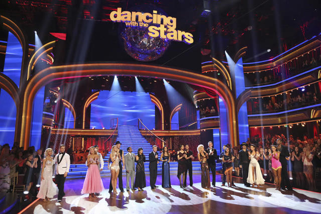 """Nine remaining couples hit the dance floor and faced an exciting new challenge on """"Dancing With the Stars."""""""