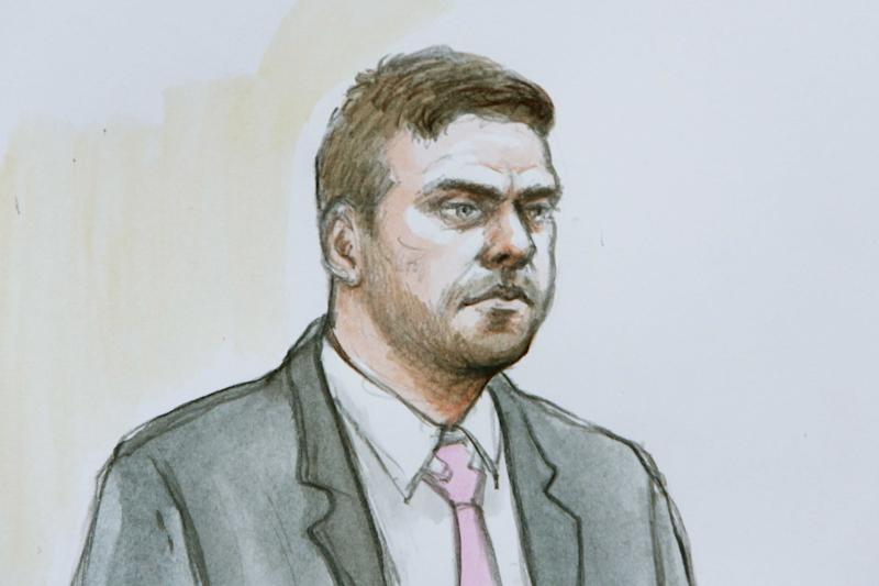 Rhys Hancock appearing at Derby Crown Court in January. (Helen Tipper/SWNS)