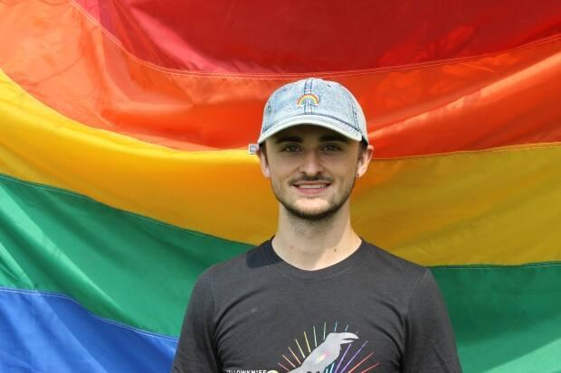 Damian Benoit, a board member of Yellowknife Pride, said the event created a safe space for important educational conversations about inclusivity. (Liny Lamberink/CBC - image credit)
