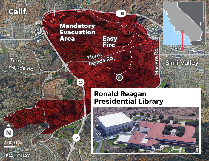 SOURCE Ventura County Emergency Operations Center; GoogleEarth; CAL FIRE